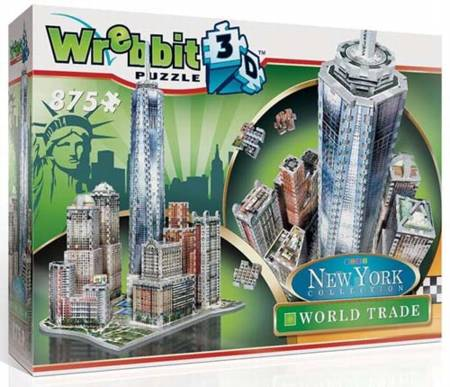 3D Jigsaw Puzzle - World Trade (New York Collection) - Wrebbit