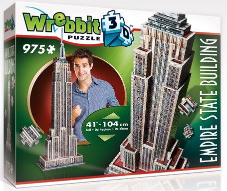 3D Jigsaw Puzzle - Empire State Building - Wrebbit