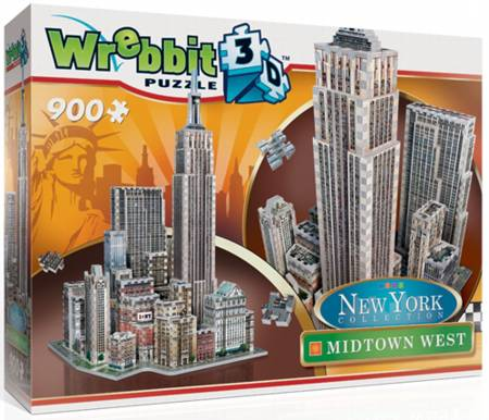 3D Jigsaw Puzzle - Midtown West - Wrebbit