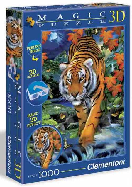 Jigsaw Puzzle - On the Prowl (#39185) - 1000 Pieces 3-D Clementoni