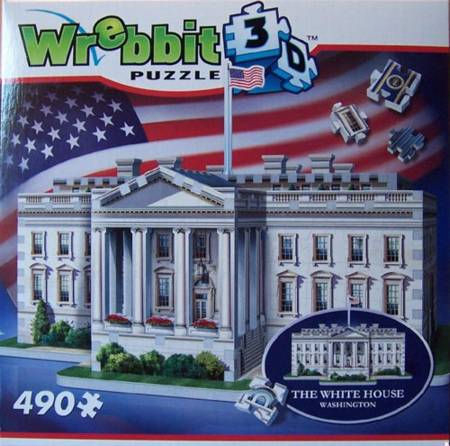 3D Jigsaw Puzzle - White House - Wrebbit