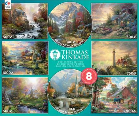 Jigsaw Puzzle - Thomas Kinkade 8 in 1 Puzzle Set (3721-01) - 1000 Pieces Ceaco