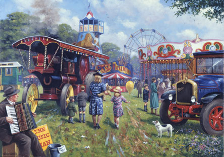 Wooden Jigsaw Puzzle - A Day at The Fair - 250 Pieces Wentworth