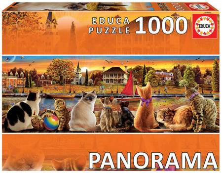 Jigsaw Puzzle - Cats on the Quay (#18001) - 1000 Pieces Educa