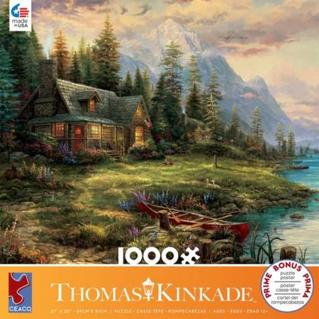 Thomas Kinkade Jigsaw Puzzle - A Fathers Perfect Day (#3310-63) - 1000 Pieces Ceaco
