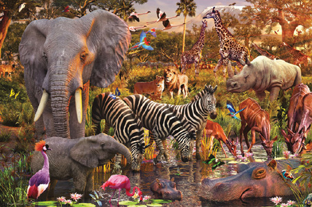 Jigsaw Puzzle - African Animals - 3000 Pieces Ravensburger