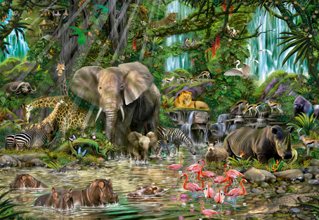 Jigsaw Puzzle - African Jungle - 2000 Pieces Educa