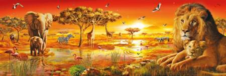 Jigsaw Puzzle - African Savannah (#39259) (Panoramic Image) - 1000 Pieces Clementoni