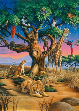 Jigsaw Puzzle - African Wildlife (#39233) - 1000 Pieces Clementoni