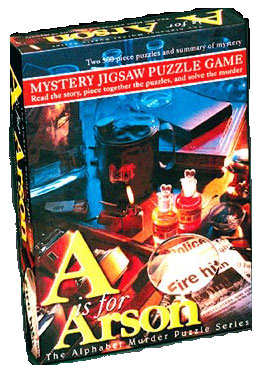 Mystery Jigsaw Puzzle - A is for Arson - 2 500 Piece Puzzles
