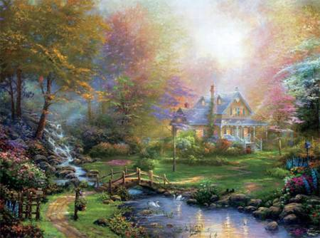 Thomas Kinkade Jigsaw Puzzle - A Mothers Perfect Day (#3310-54) - 1000 Pieces Ceaco