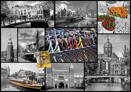 Jigsaw Puzzle - Amsterdam - Collage (10352)