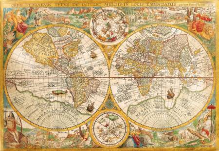 Jigsaw Puzzle - Ancient Map (32557) - 2000 Pieces Clementoni
