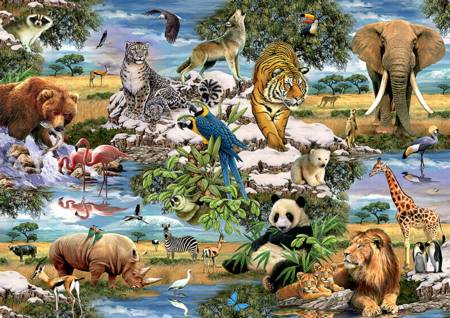 Jigsaw Puzzle - Animals of the World (10313)