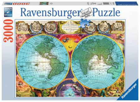 Jigsaw Puzzle - Antique Map (#17074) - 3000 Pieces Ravensburger