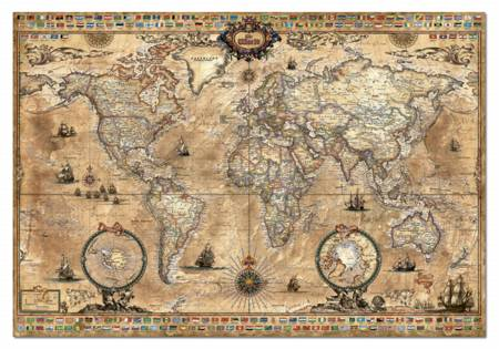Jigsaw Puzzle - Antique World Map (#15159) - 1000 Pieces Educa