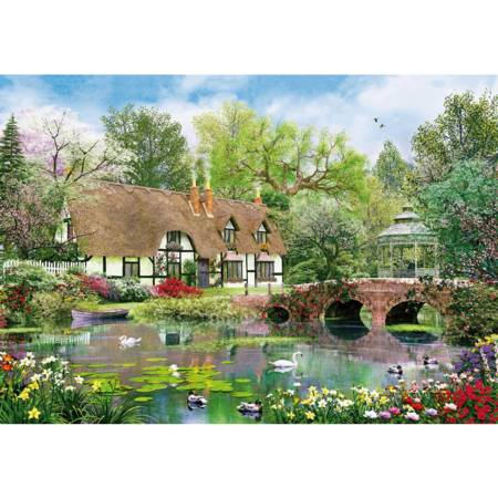 Wooden Jigsaw Puzzle - April Cottage (780408) - 1000 Pieces Wentworth