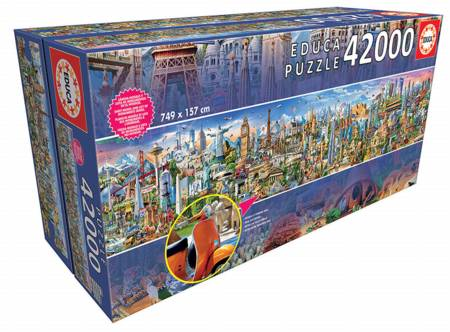Jigsaw Puzzle - Around the World (#17570) - 42000 Pieces Educa