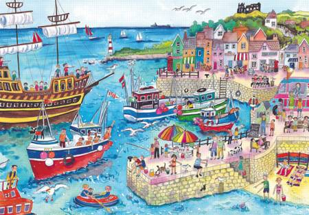 Wooden Jigsaw Puzzle - At The Harbor (#722603) - 250 Pieces