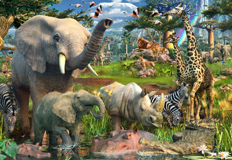 Jigsaw Puzzle - At the Waterhole - 18000 Pieces Ravensburger