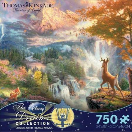 Thomas Kinkade Jigsaw Puzzle - Bambis First Year (2903-6) - 750 Ceaco
