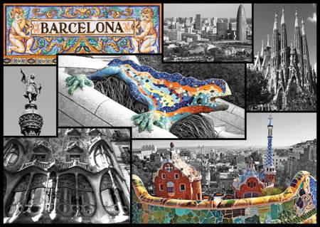 Jigsaw Puzzle - Barcelona - Collage (37169)