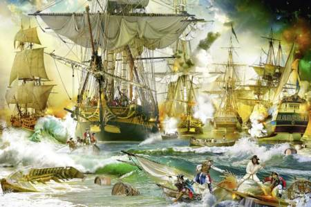 Jigsaw Puzzle - Battle on the High Seas - 5000 Pieces Ravensburger
