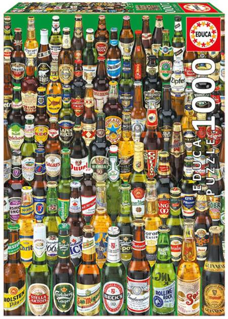 Jigsaw Puzzle - Beers (#12736) - 1000 Pieces Educa
