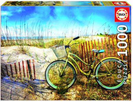 Jigsaw Puzzle - Bike in the Dunes (#17657) - 1000 Pieces Educa