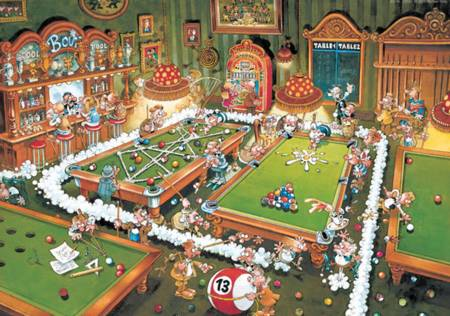 Jigsaw Puzzle - Billards - 1000 Pieces Heye