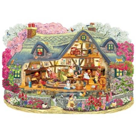 Wooden Jigsaw Puzzle - Blossom Cottage (830202) - 250 Pieces