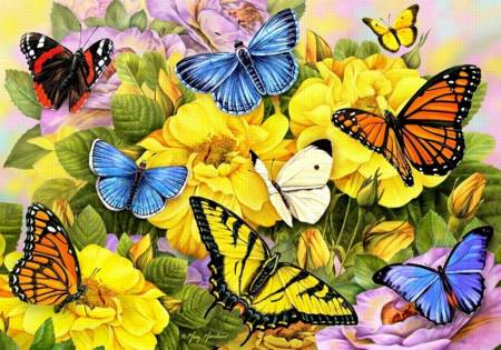 Wooden Jigsaw Puzzle - Butterflies of Summer (#762606) - 250 Pieces