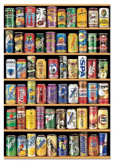 Jigsaw Puzzle - Cans (#14446) - 1500 Pieces Educa