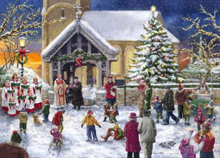 Wooden Jigsaw Puzzle - Christmas Choir - 1000 Pieces Wentwort