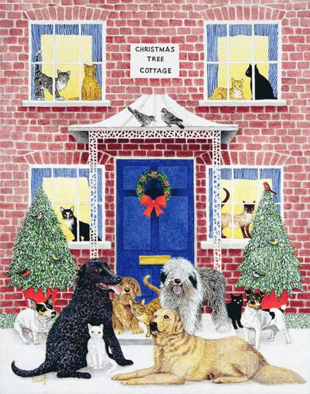 Wooden Jigsaw Puzzle - Christmas Dog Cottage (#117528360) - 250 Pieces