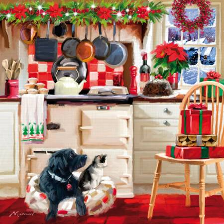 Wooden Jigsaw Puzzle - Christmas Kitchen (#730101) - 230 Pieces