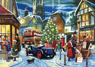 Wooden Jigsaw Puzzle - Christmas Streets - 250 Pieces Wentworth