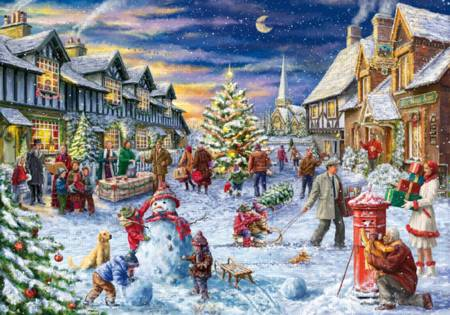Wooden Jigsaw Puzzle - Christmas Village (#770601) - 1000 Pieces
