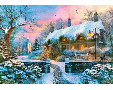 Wooden Jigsaw Puzzle - Church Lane Cottage (893308) - 250 Pieces Wentworth