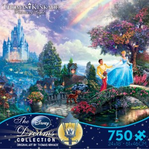 Thomas Kinkade Jigsaw Puzzle - Cinderella Wishes Upon a Dream - 750 Ceaco  (Disney)
