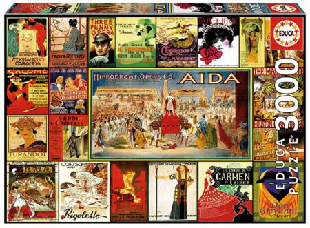 Jigsaw Puzzle - Collage of Operas (#17676) - 3000 Pieces Educa