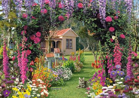 Wooden Jigsaw Puzzle - Cottage Garden (#490502) - 250 Pieces Wentworth