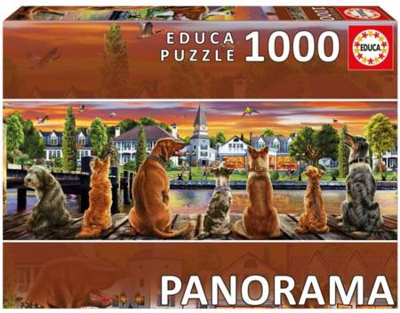 Wooden Jigsaw Puzzle - Dogs on the Quay (#822406) - 500 Pieces