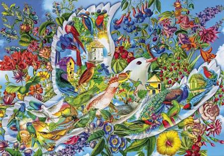 Wooden Jigsaw Puzzle - Dove of Hope (840413) - 250 Pieces Wentworth