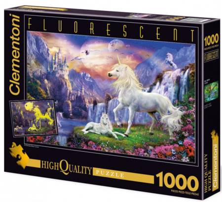 Glow in Dark Jigsaw Puzzle - Early Evening (#39285) - 1000 Pieces Clementoni
