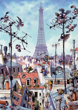 Jigsaw Puzzle - Eiffel Tower - 1000 Pieces Heye