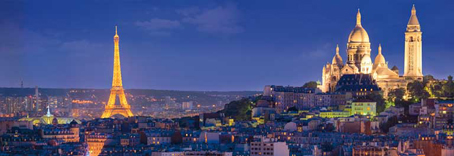 Jigsaw Puzzle - Evening in Paris (Panoramic Image) - 1000 Pieces  Clementoni