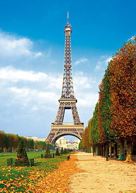 Jigsaw Puzzle - Fall in Paris - 500 Pieces Clementoni