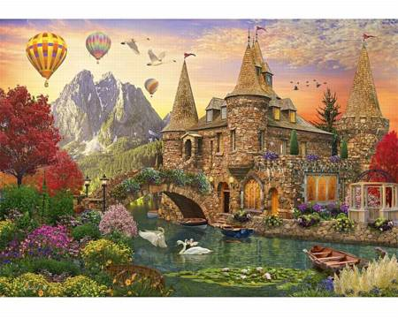 Wooden Jigsaw Puzzle - Fantasy Castle Land (862702) - 1000 Pieces Wentworth