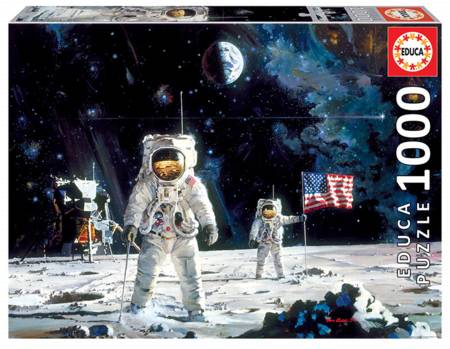 Jigsaw Puzzle - First Men on the Moon (18459) - 1000 Pieces Educa